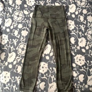 Brand New Lululemon Leggings Camo Aligns Cropped